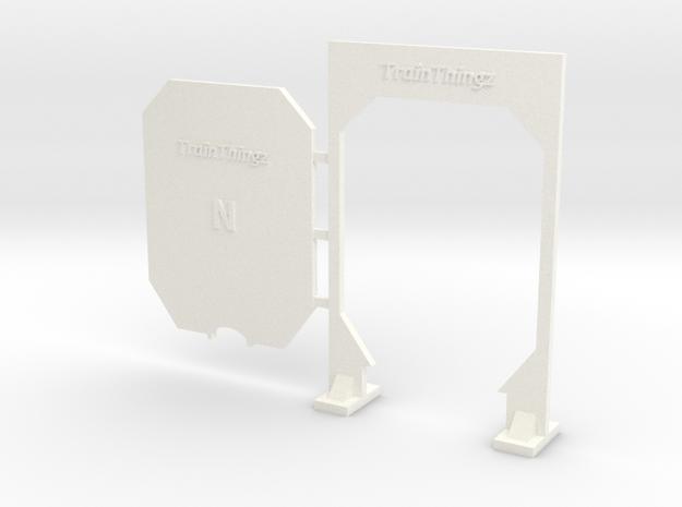 N Scale 1:160 Clearance Gauge 3d printed