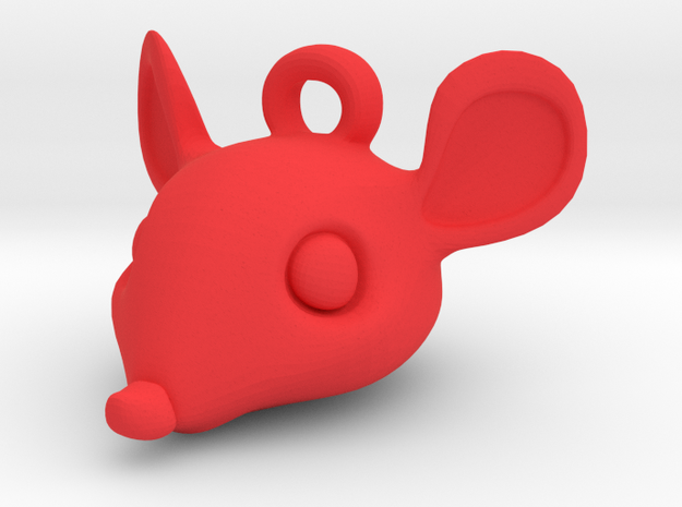 Mouse-head keychain 3d printed