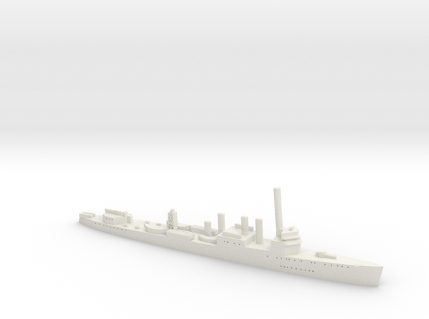 HMS Campbeltown 1:1800 3d printed