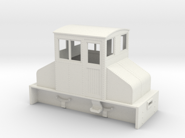 On18 Large Steeplecab loco  in White Natural Versatile Plastic
