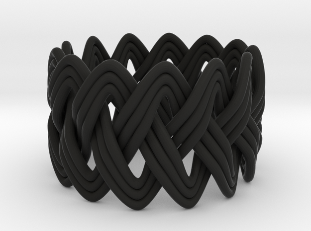 Turk's Head Knot Ring 3 Part X 13 Bight - Size 6.2 3d printed