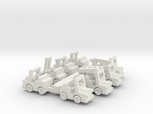Besatzungsset für 1:220 (z scale)  in White Natural Versatile Plastic
