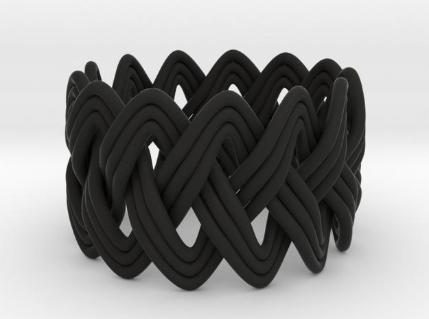 Turk's Head Knot Ring 3 Part X 13 Bight - Size 7 3d printed