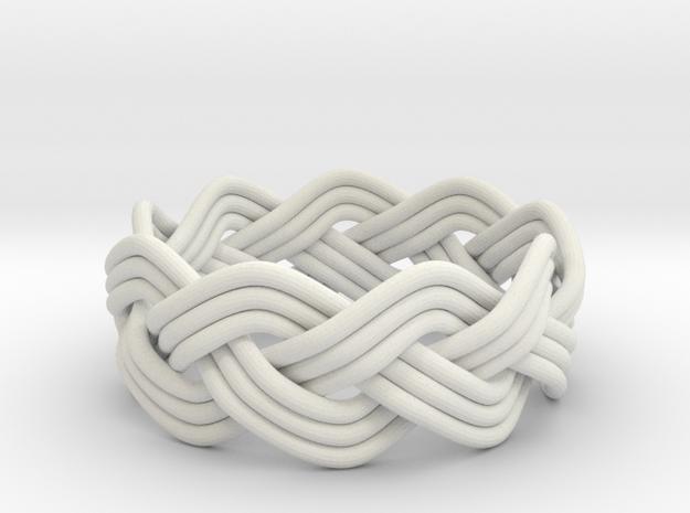 Turk's Head Knot Ring 3 Part X 9 Bight - Size 7.5 3d printed