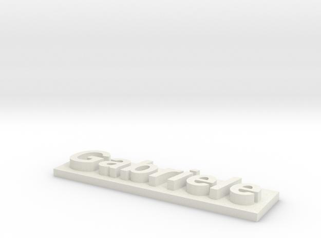 Gabriele's name 3d printed