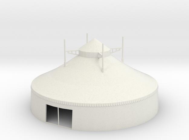 Zelt - 16 Meter - 1:87 (H0 scale) in White Natural Versatile Plastic