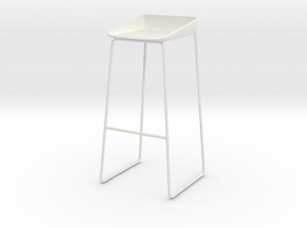 Steelcase Scoop Stool in White Natural Versatile Plastic