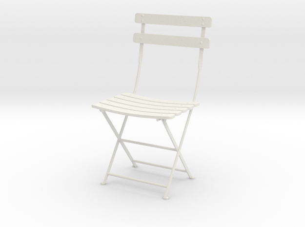 """Bryant Park Bistro Chair 3.7"""" tall in White Natural Versatile Plastic"""
