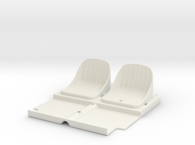 SR40006 Beach Buggy Seats in White Natural Versatile Plastic