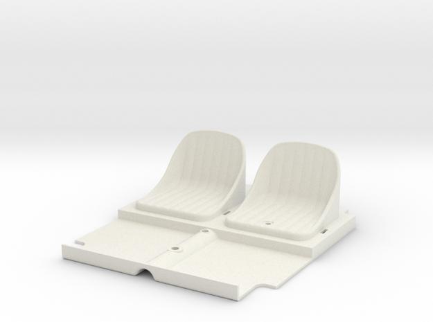 SR40006 Beach Buggy Seats in White Natural Versatile Plastic