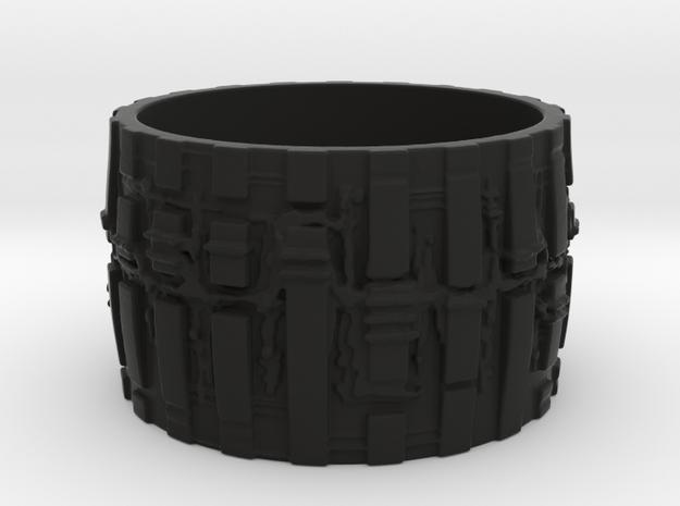 Bio Mech Ring #2, Ring Size 7.5 3d printed