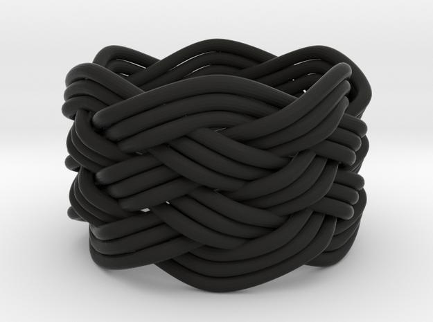 Turk's Head Knot Ring 6 Part X 6 Bight - Size 4.5 3d printed