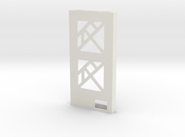 SquarePhoneTangram  in White Natural Versatile Plastic