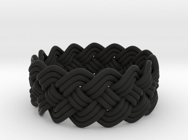 Turk's Head Knot Ring 4 Part X 15 Bight - Size 10 3d printed