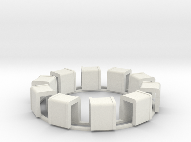 Ring Of Transformers in White Natural Versatile Plastic
