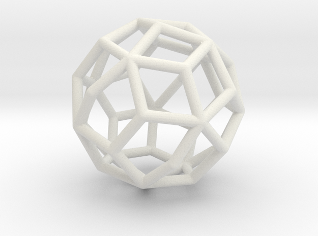 MaxiMin 37 Vertices (5cm) in White Natural Versatile Plastic