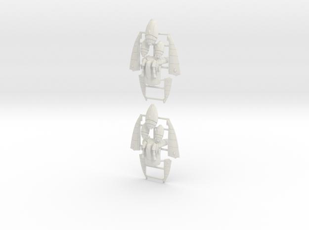Eldar Corsair Jump Packs (set of 2) in White Strong & Flexible