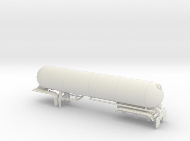 S-scale 1/64 trailer 15, LPG Tri-axle Tanker 3d printed