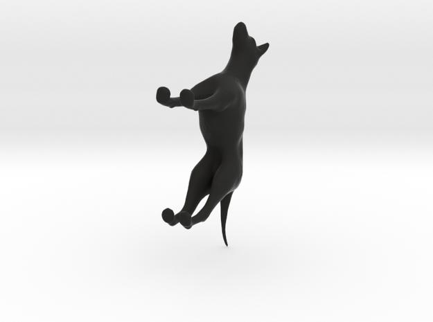 short haired german pointer (black - white) 3d printed