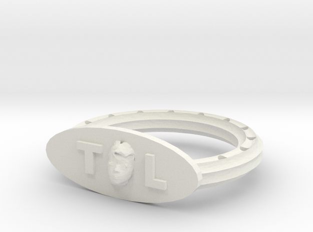 "The ""Me"" Ring in White Natural Versatile Plastic"