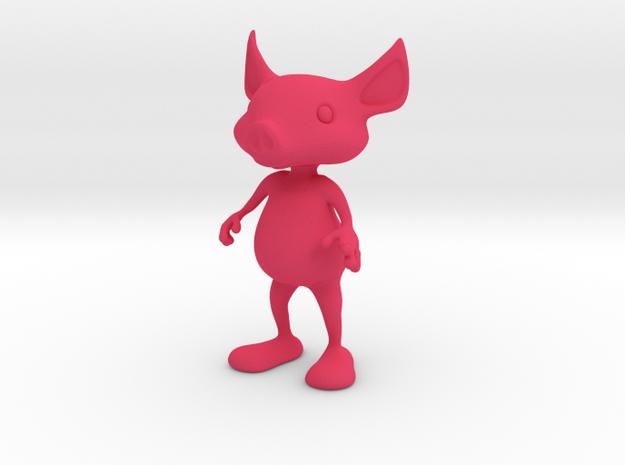Tiny Pig in Pink Processed Versatile Plastic