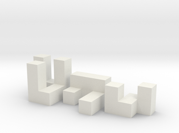 6mm Puzzle Cube in White Strong & Flexible