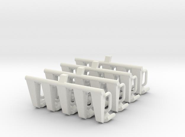 4x5 Sitzbänke  für 1:87 (H0) in White Natural Versatile Plastic