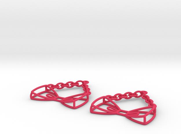 Bow Tie Earrings - in nylon 3d printed