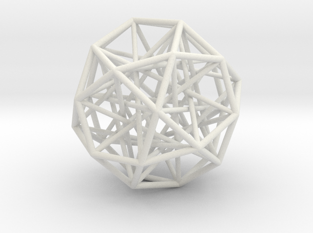Sphere 2 Large in White Natural Versatile Plastic