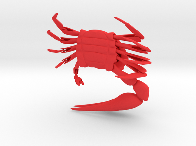 Articulated Fiddler Crab (Uca pugilator) 3d printed