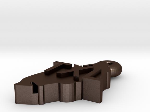 Texel pendant 3d printed