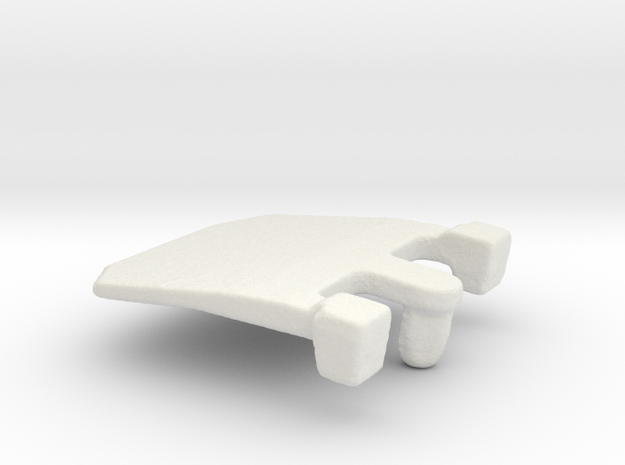 IBM Model F - Pivot Plate 3DScan in White Natural Versatile Plastic