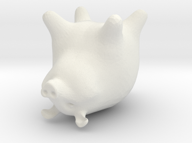 orange pig 3d printed