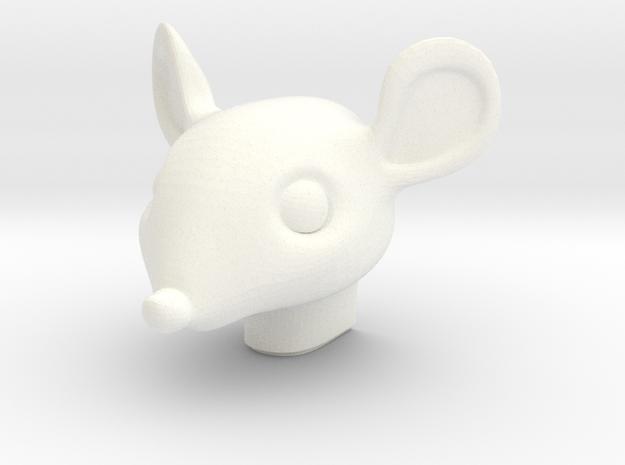 Mouse Night Light in White Processed Versatile Plastic