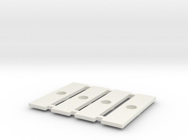Fahrgestell-Verbindungsklipse für Halberstädter in White Natural Versatile Plastic