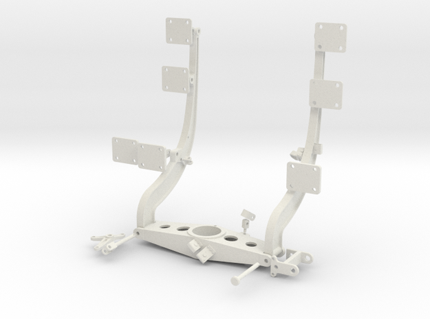1:7 Scale Huey Starboard Side Weapons Support in White Strong & Flexible