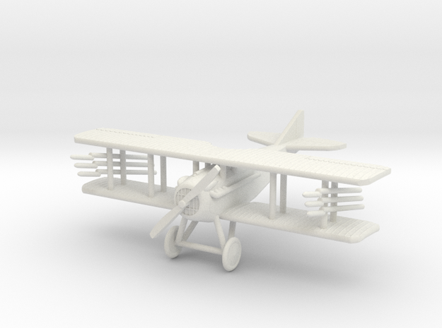 "SPAD VII ""Rockets"" 1:144th Scale in White Natural Versatile Plastic"
