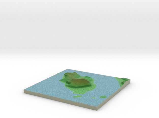 Terrafab generated model Mon Sep 30 2013 19:16:17 3d printed