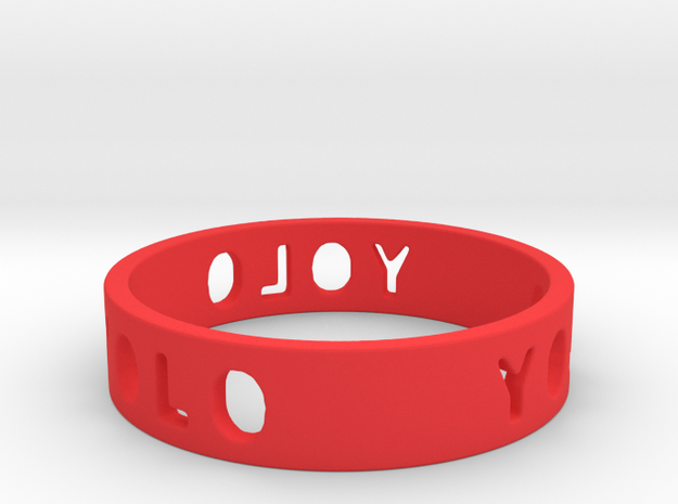 YOLO TYPE 2, Size 7 Ring Size 7 3d printed