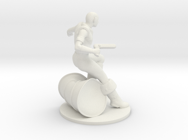 Saar Infantry in White Natural Versatile Plastic
