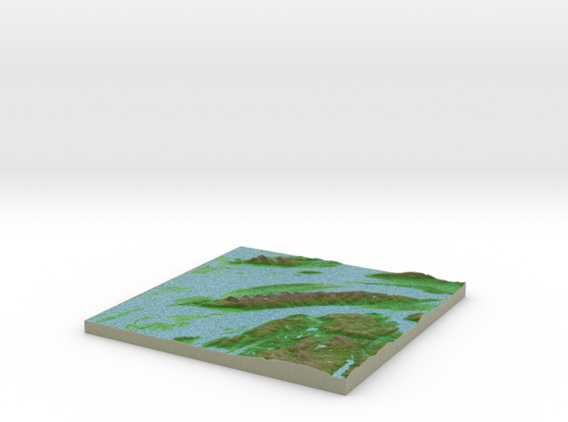Terrafab generated model Mon Oct 07 2013 18:38:36 3d printed
