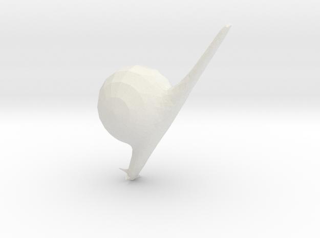 Csigaa in White Natural Versatile Plastic