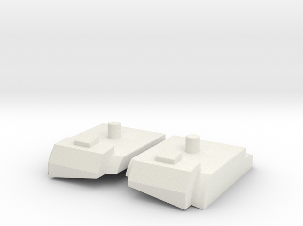 Feet set for Kabaya set 7 Bruticus in White Natural Versatile Plastic