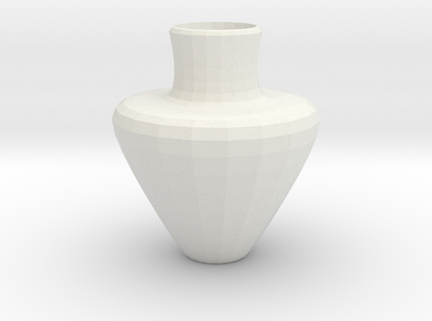 avalon vase in White Natural Versatile Plastic