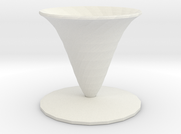 fleur vase in White Natural Versatile Plastic
