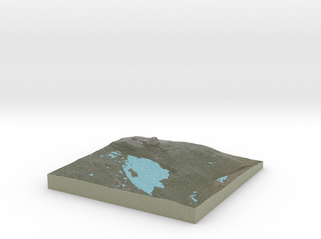 Terrafab generated model Mon Oct 14 2013 17:30:43 3d printed