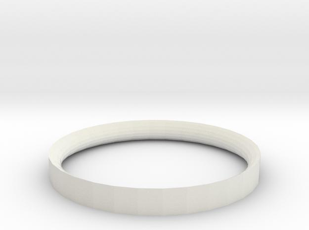 Simple Ring 5 34 in White Natural Versatile Plastic