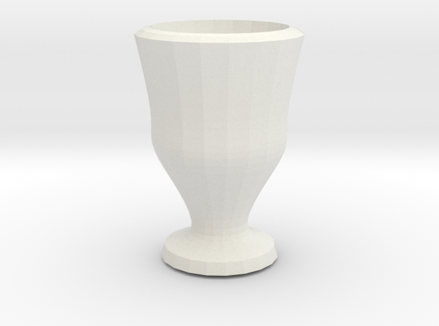liliput  mini vase in White Strong & Flexible