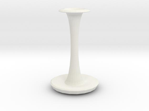 charlie vase  in White Natural Versatile Plastic