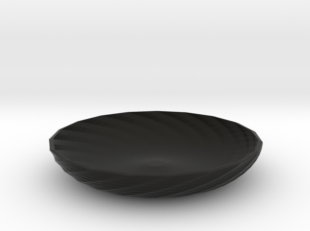 twisted red cap dish 3d printed
